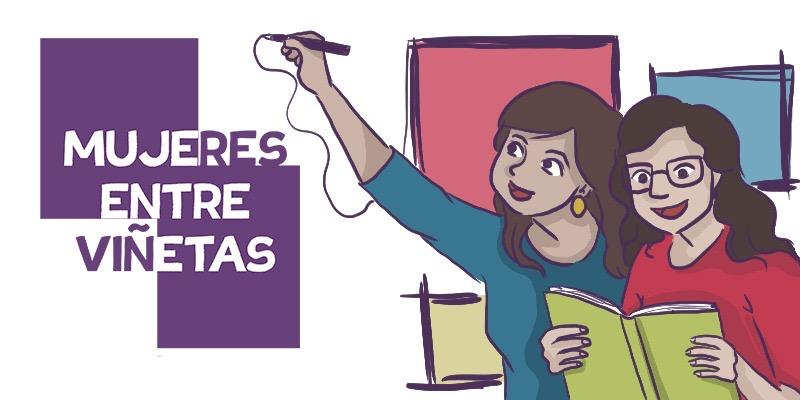 mujeres entre vic3b1etas cabecera - Dones de Còmic